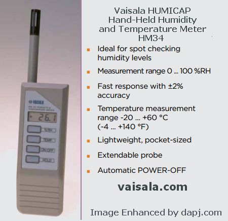 Hand-Held Humidity and Temperature Meter HM34